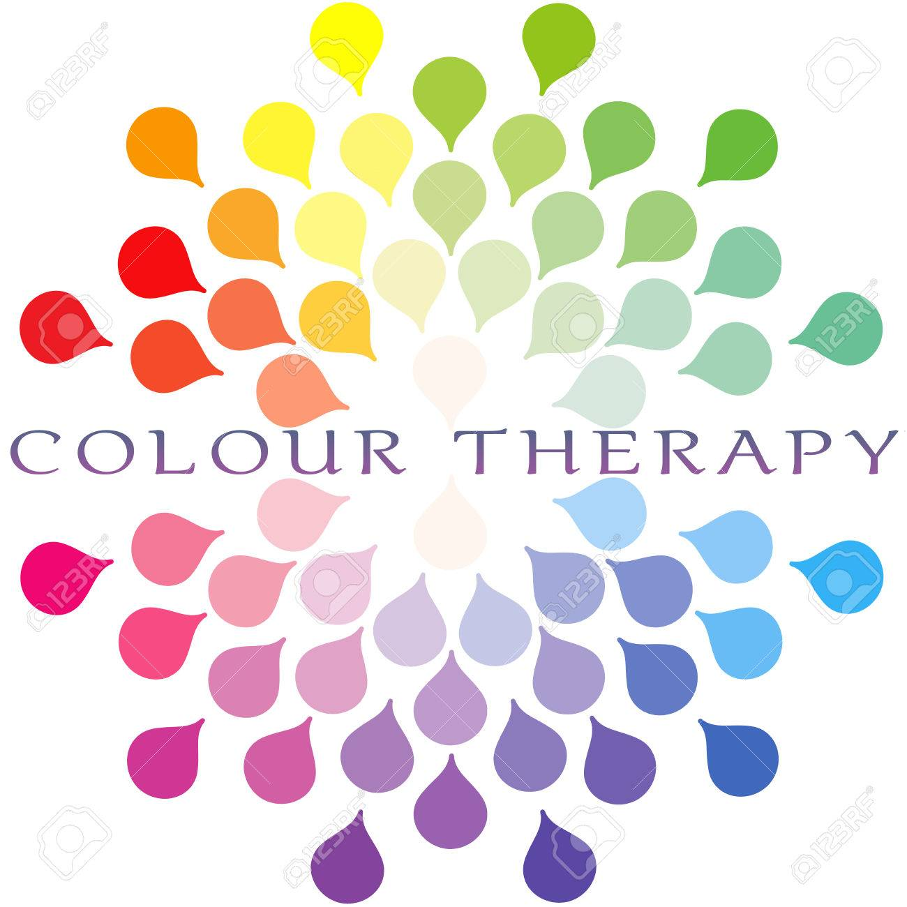 Colour therapy for sciatica - Color Therapy For Healing Colour Therapy Colour Spectrum Logo Stock Photo 40674674