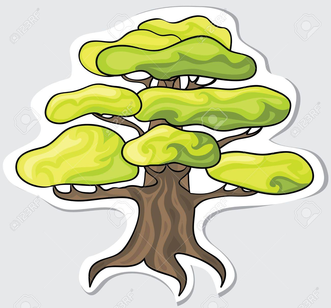 Stylized tree for your design  Vector Stock Vector - 12763771