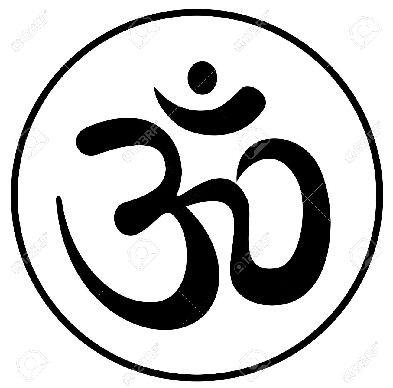 om aum a symbol bearing the blessing royalty free cliparts vectors