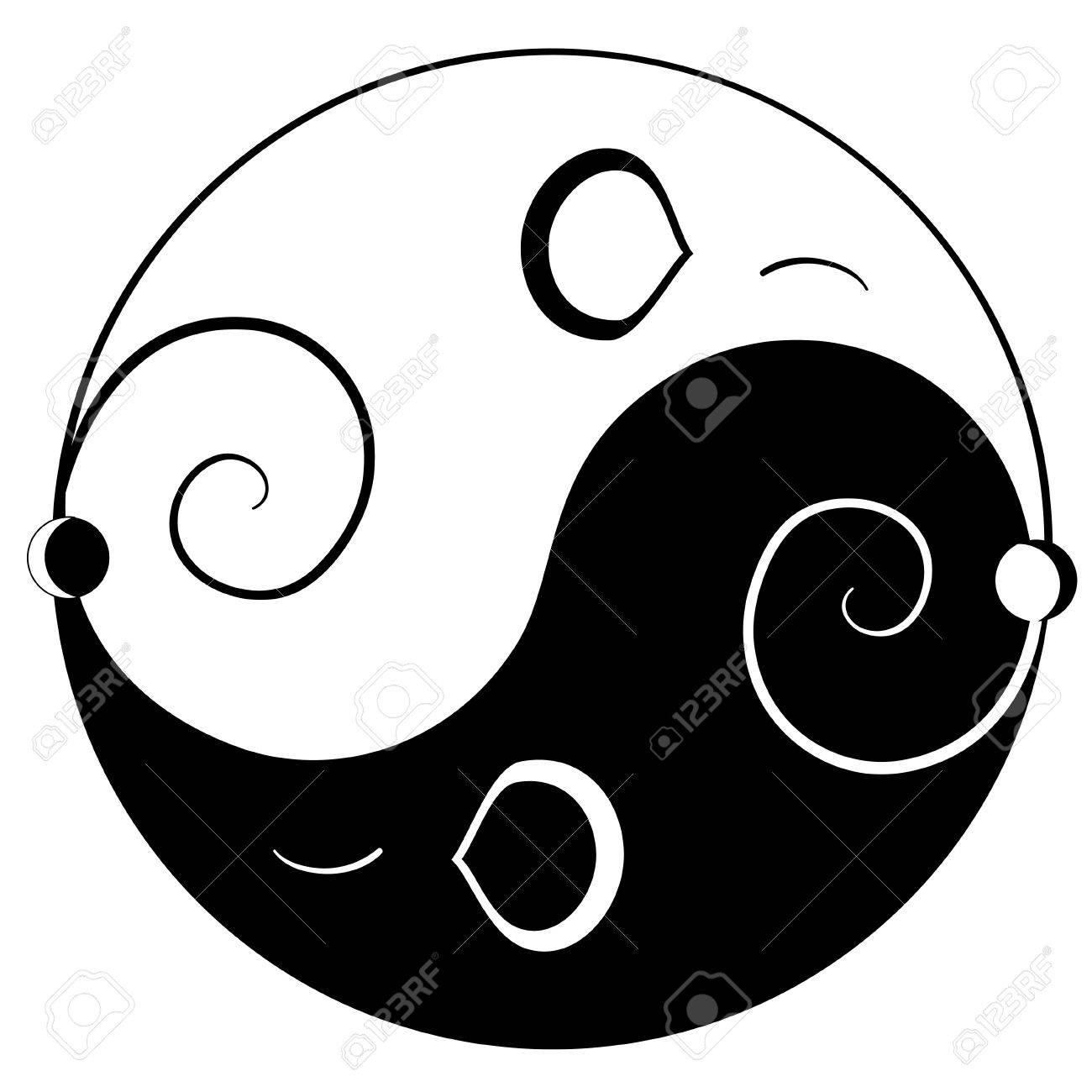 Mouse ying yang symbol of harmony and balance Stock Vector - 13214714