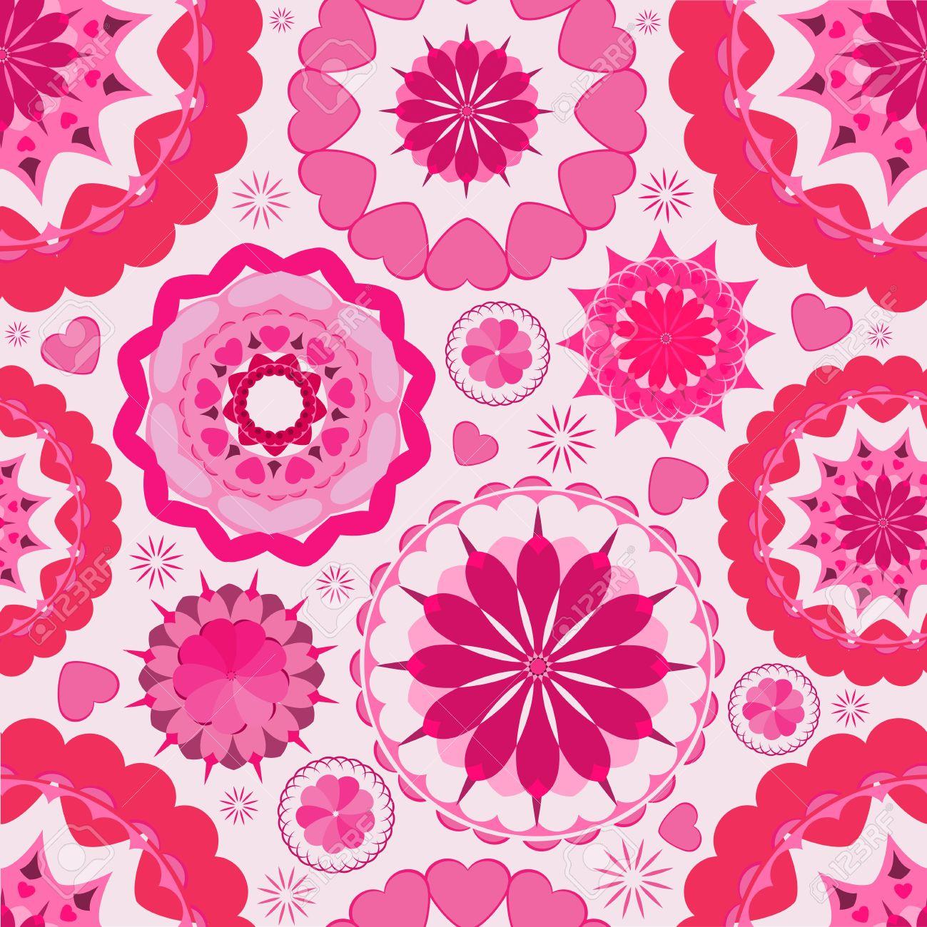 fleur rose seamless fond d'écran jardin clip art libres de droits