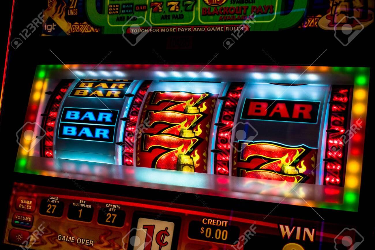 Casino slot machine display closeup - 132089467