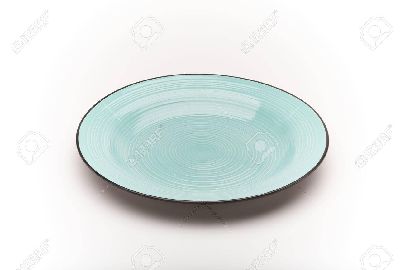 Farbige Teller Auf Einem Weissen Hintergrund Lizenzfreie Fotos