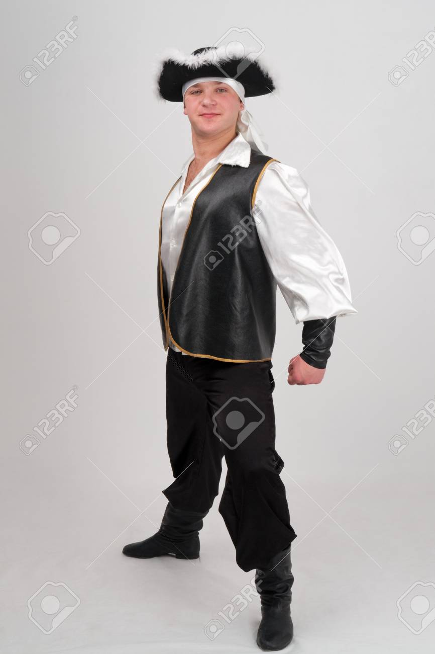 Attractive boy in a pirate costume and hat Stock Photo - 4542950