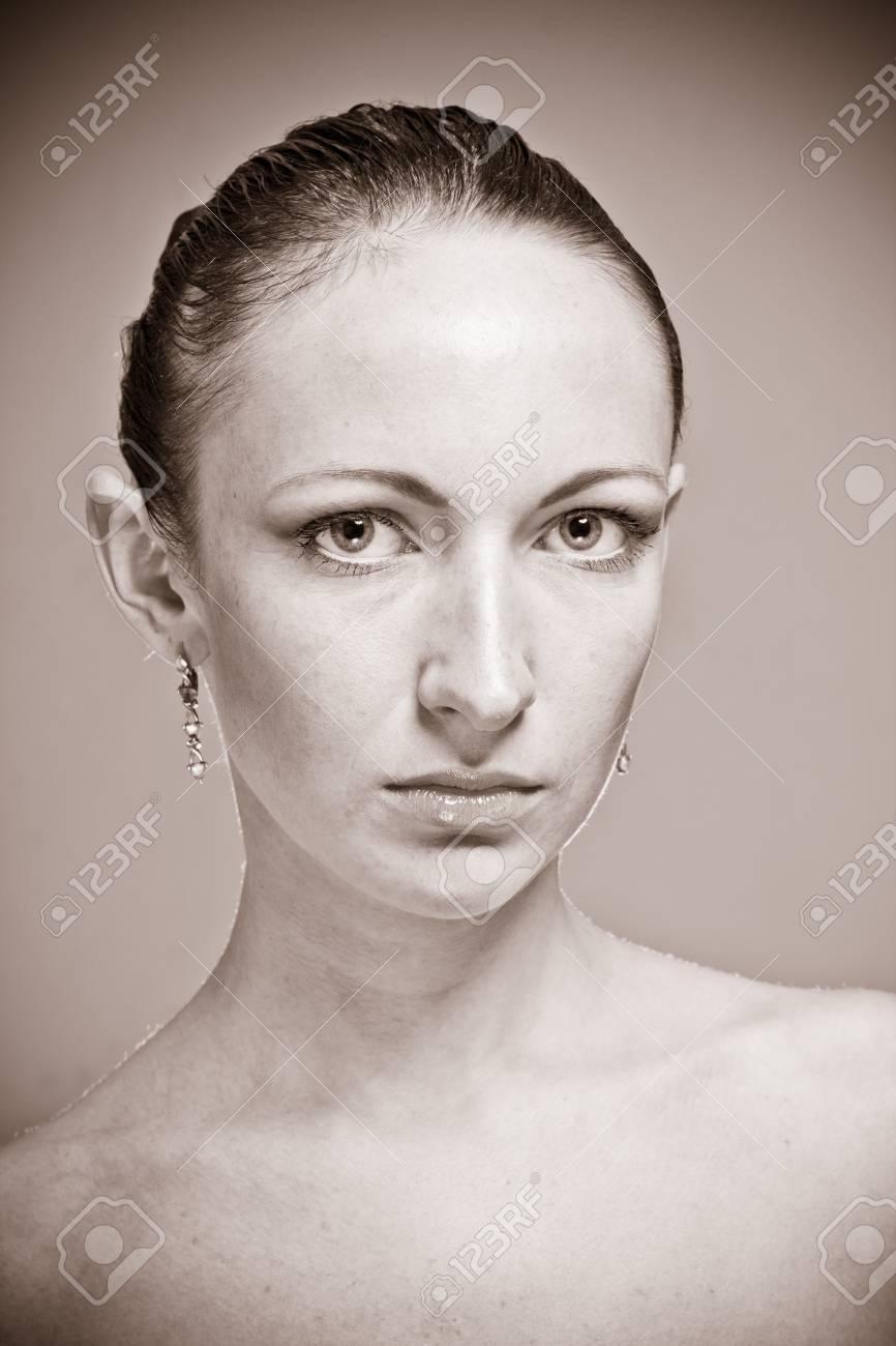 Retro portrait of a beautiful female model Stock Photo - 15547936