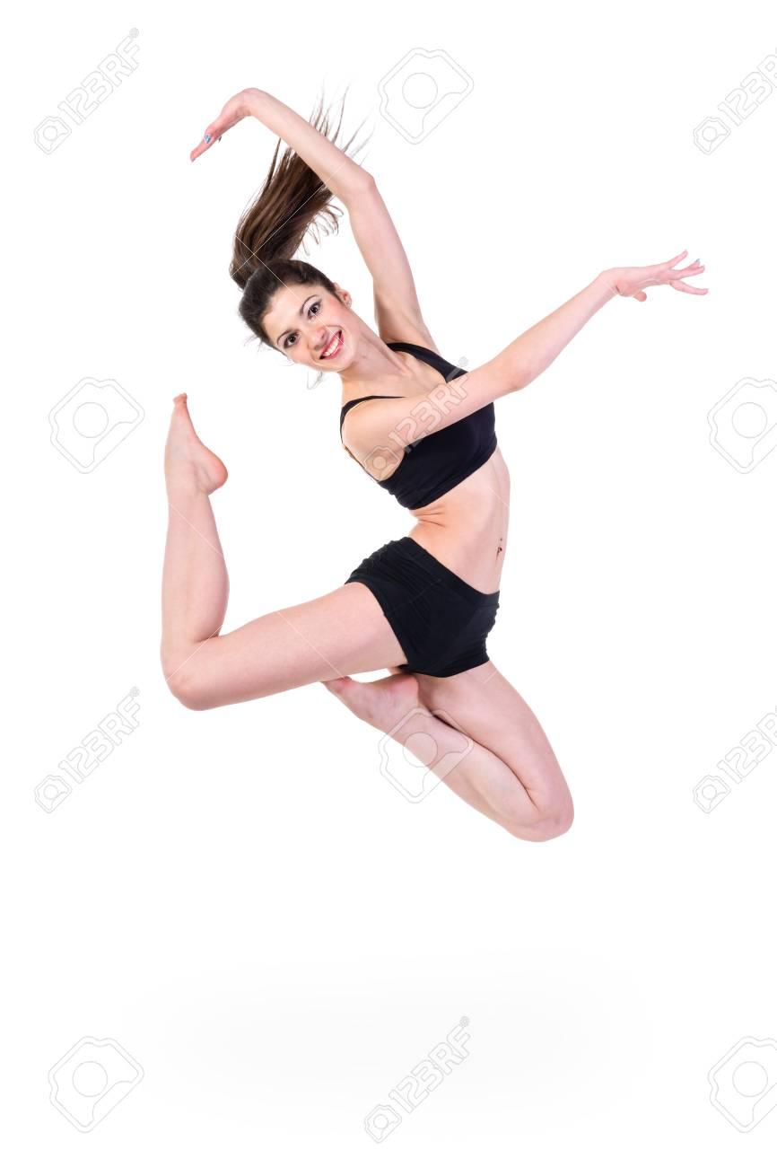 04a2fdc173 Bailarina De Ballet. Mujer De Salto Feliz
