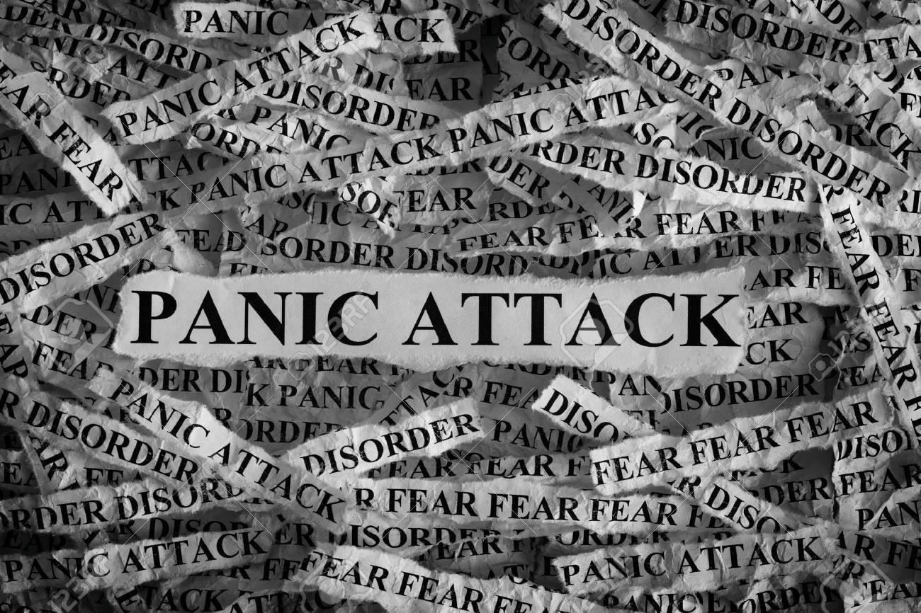 Panik Attacke Heftiges Stück Papier Mit Dem Wort Panic Attack