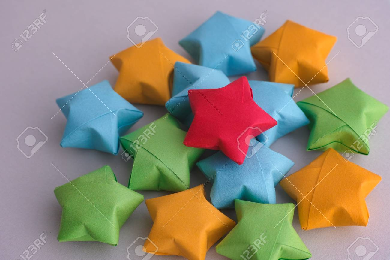 Wholesale Custom Lucky Star Fluorescent Folding Paper Colorful ... | 866x1300