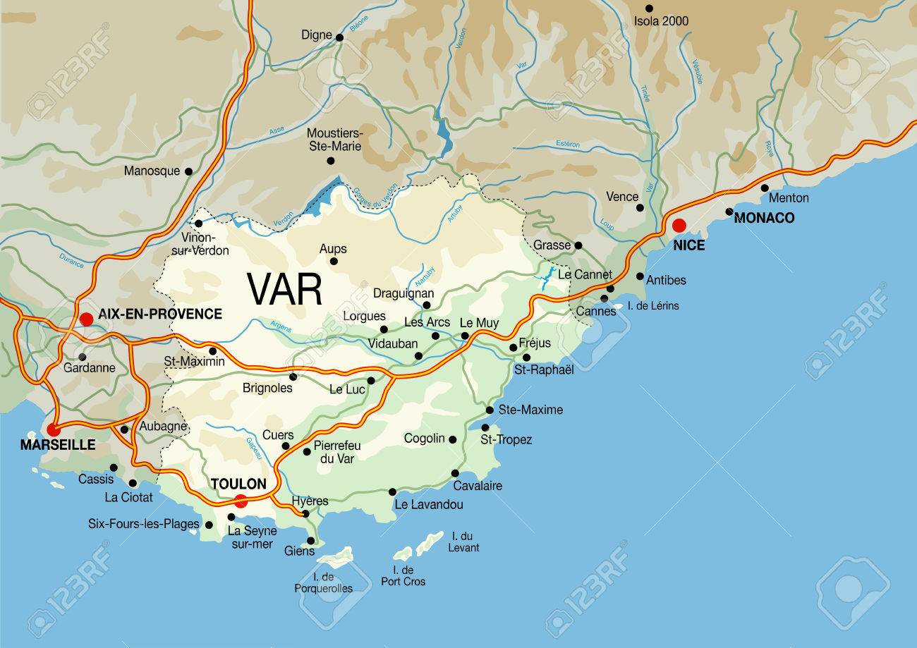French Riviera Map French Riviera Map Royalty Free Cliparts, Vectors, And Stock  French Riviera Map