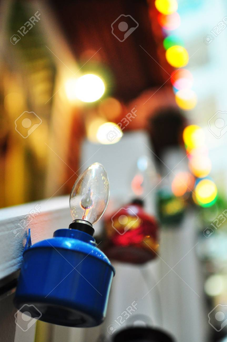 Blue Oil Lamp Hanging on Village House Stock Photo - 20984783