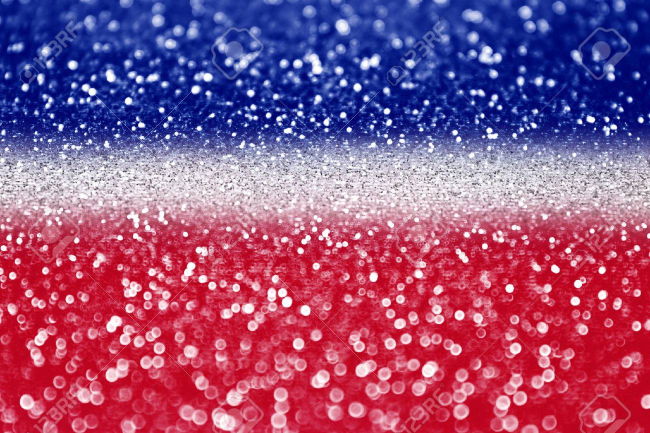 Red White And Blue Glitter Sparkle Background Stock Photo, Picture