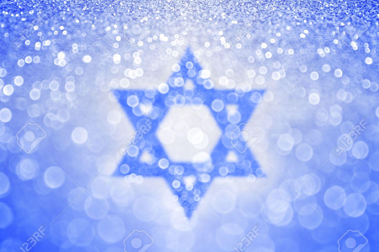Zusammenfassung Chanukka Blau Jüdischen Davidstern Hintergrund. Bar ...