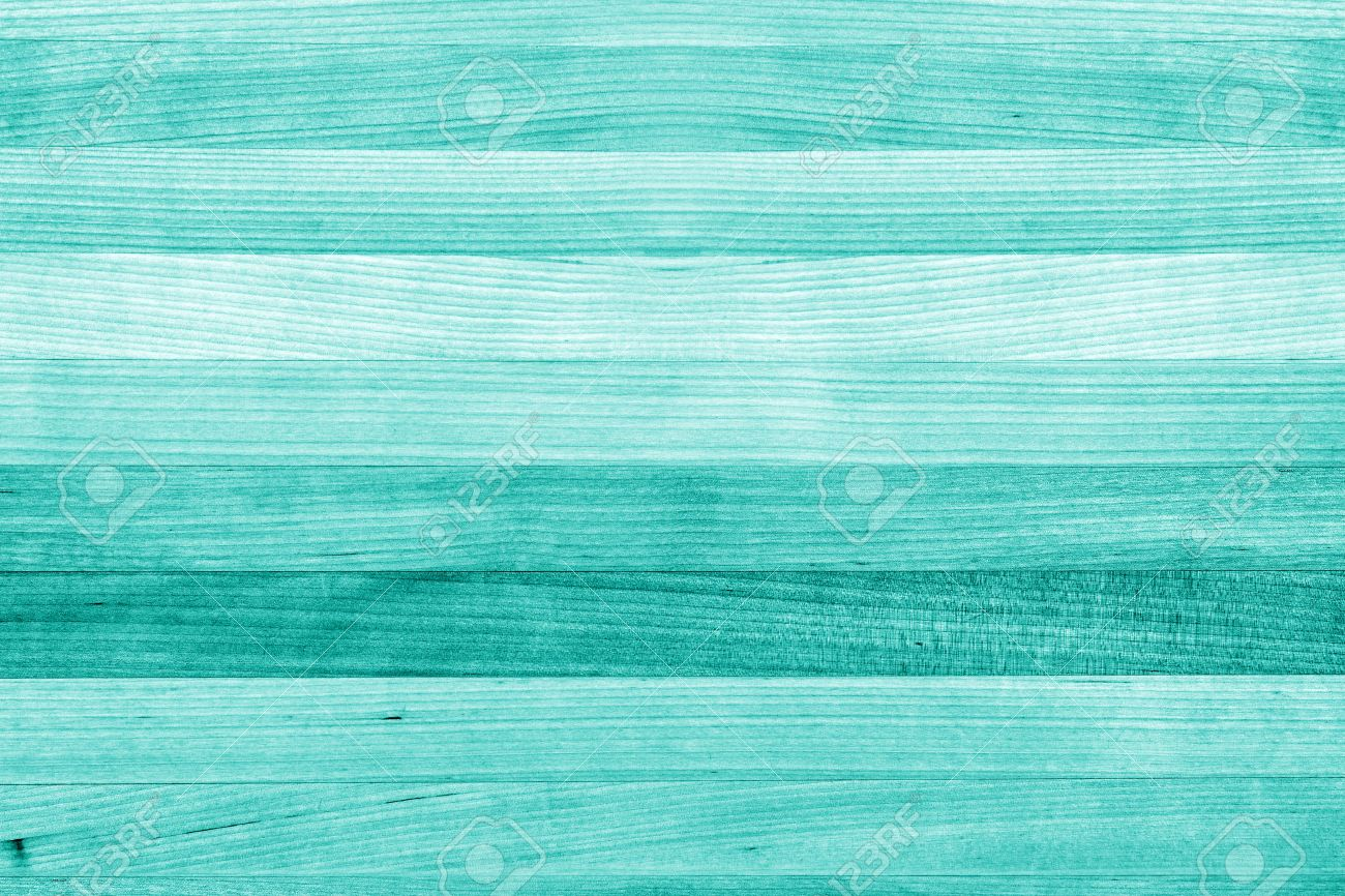 teal or turquoise green paint wood background texture stock photo