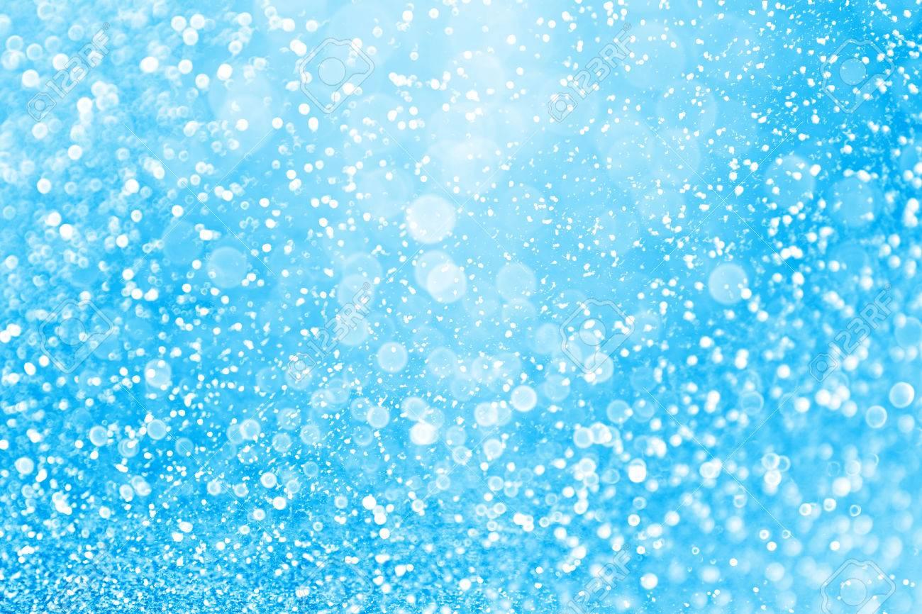 Fondo De Brillo Azul Abstracto Para Confeti De Feliz Cumpleanos