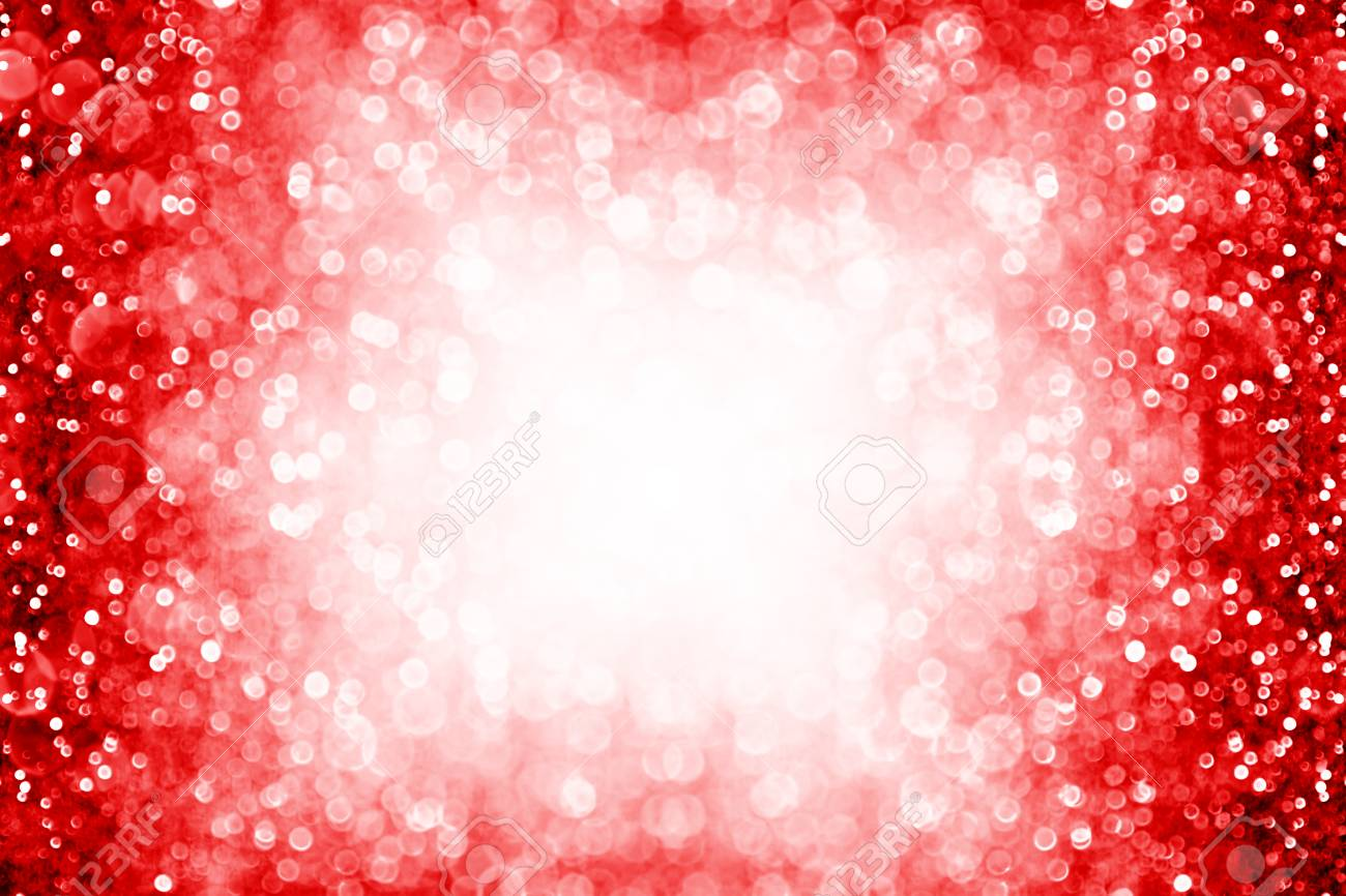 red white glitter sparkle confetti explosion background or party