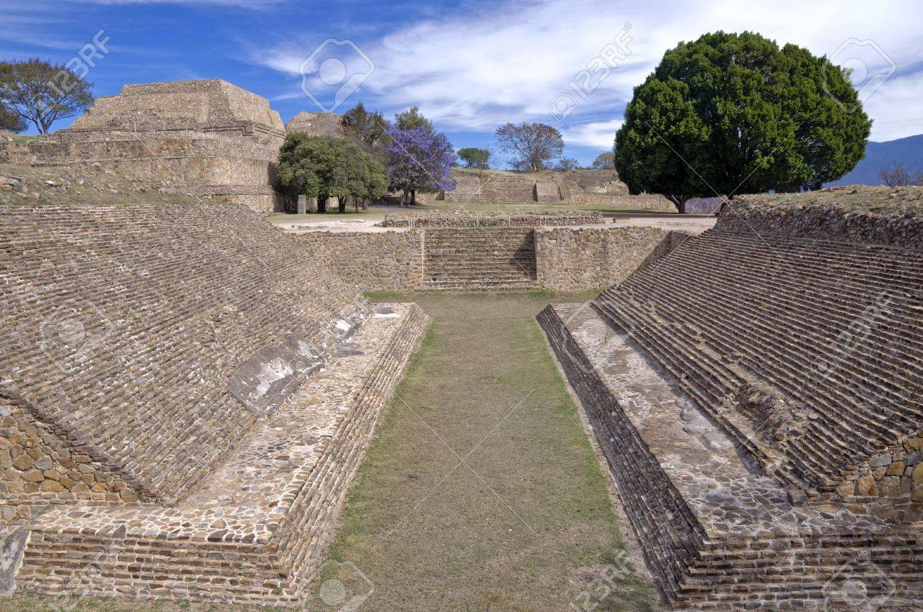 Ball court in Monte Alban, Mexico Stock Photo - 6504082