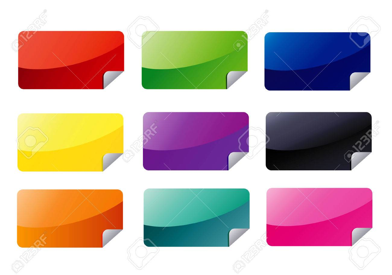 Rectangle Web Stickers Stock Vector - 3139937