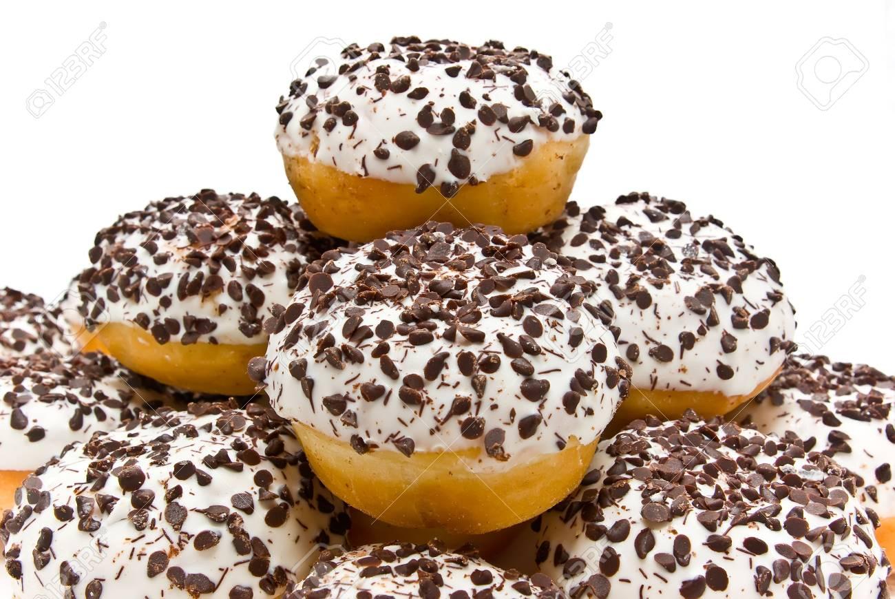 Donut with chocolate powder Stock Photo - 4420020