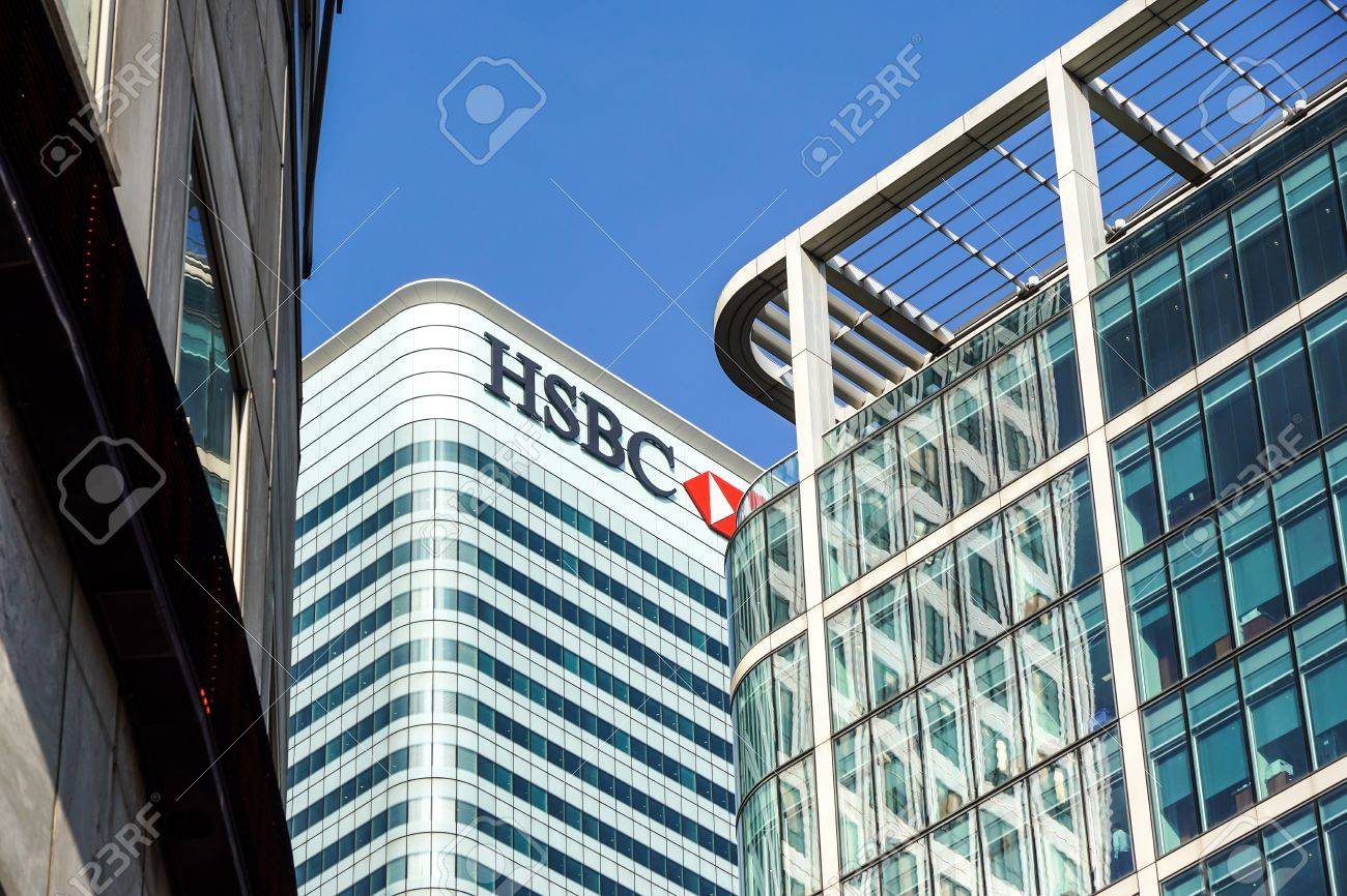 London, Uk - 6th April 2017 : HSBC bank HQ in the city of London