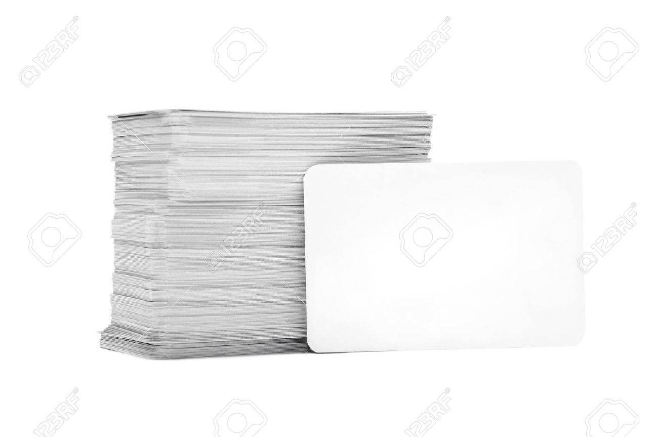The Pile Business Cards Lays Propped Up Another Business Card ...