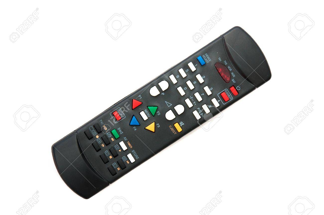 A remote TV controller over a white background Stock Photo - 8434563