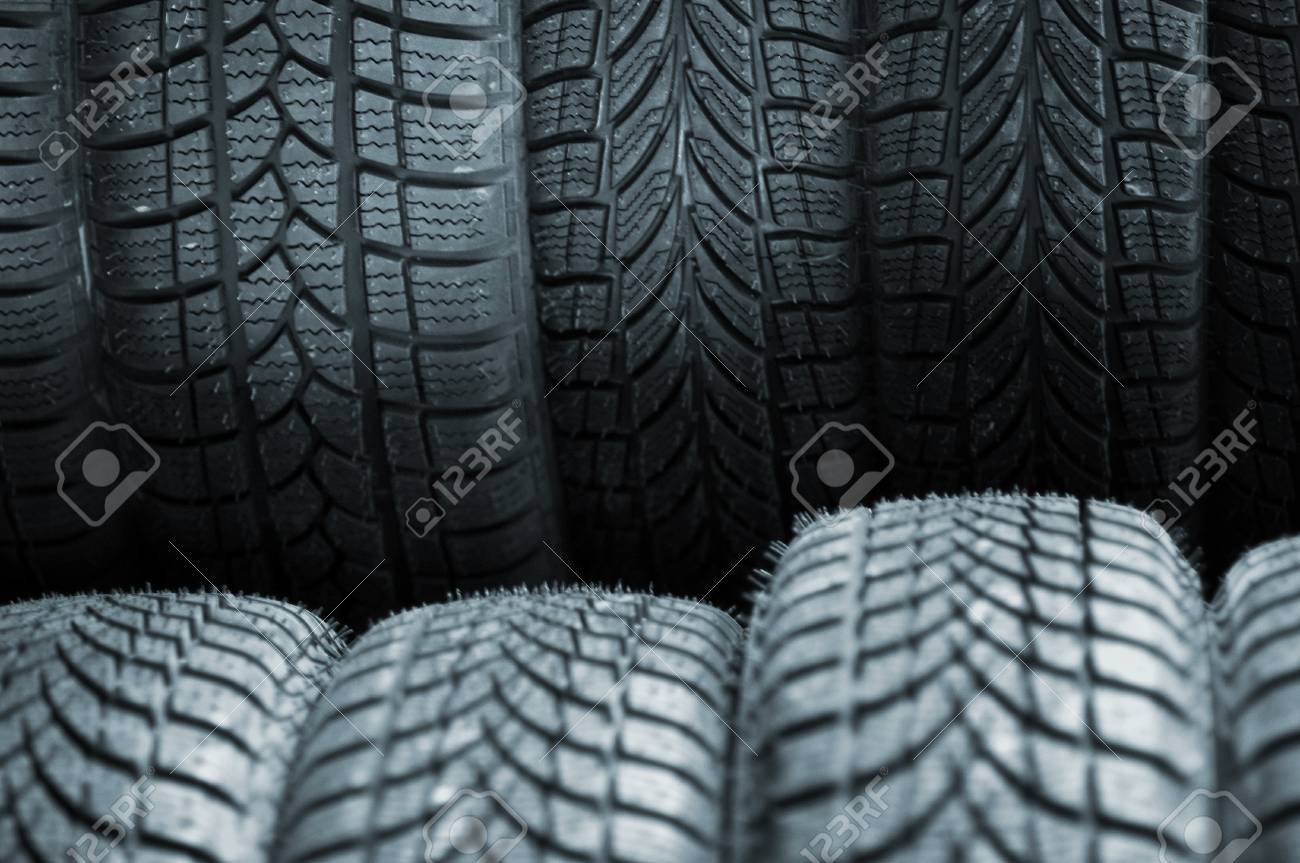 A stack of car tires, close up image Stock Photo - 9275343