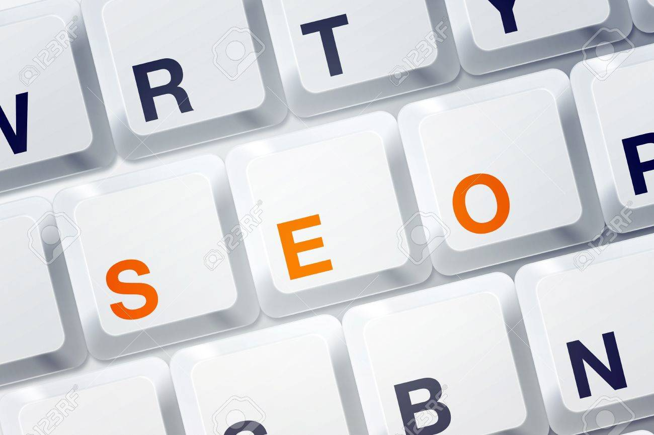 Word SEO spelled on computer keyboard buttons. SEO stands for Search Engine Optimization and it is an internet  and computer technology term. Stock Photo - 13223455