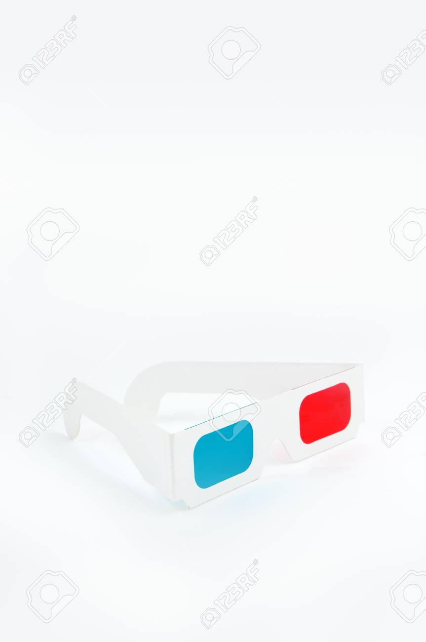 Disposable cheap cardboard 3D glasses with red and cyan lenses Stock Photo - 14082208