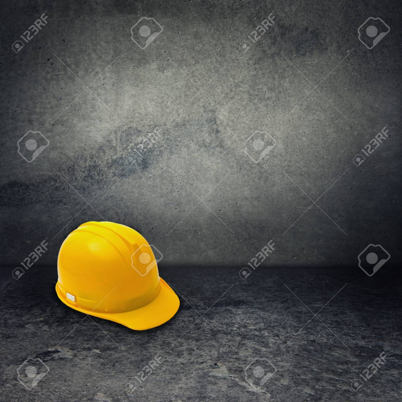 Protective equipment in obsolete gray grunge concrete room Stock Photo - 14534001