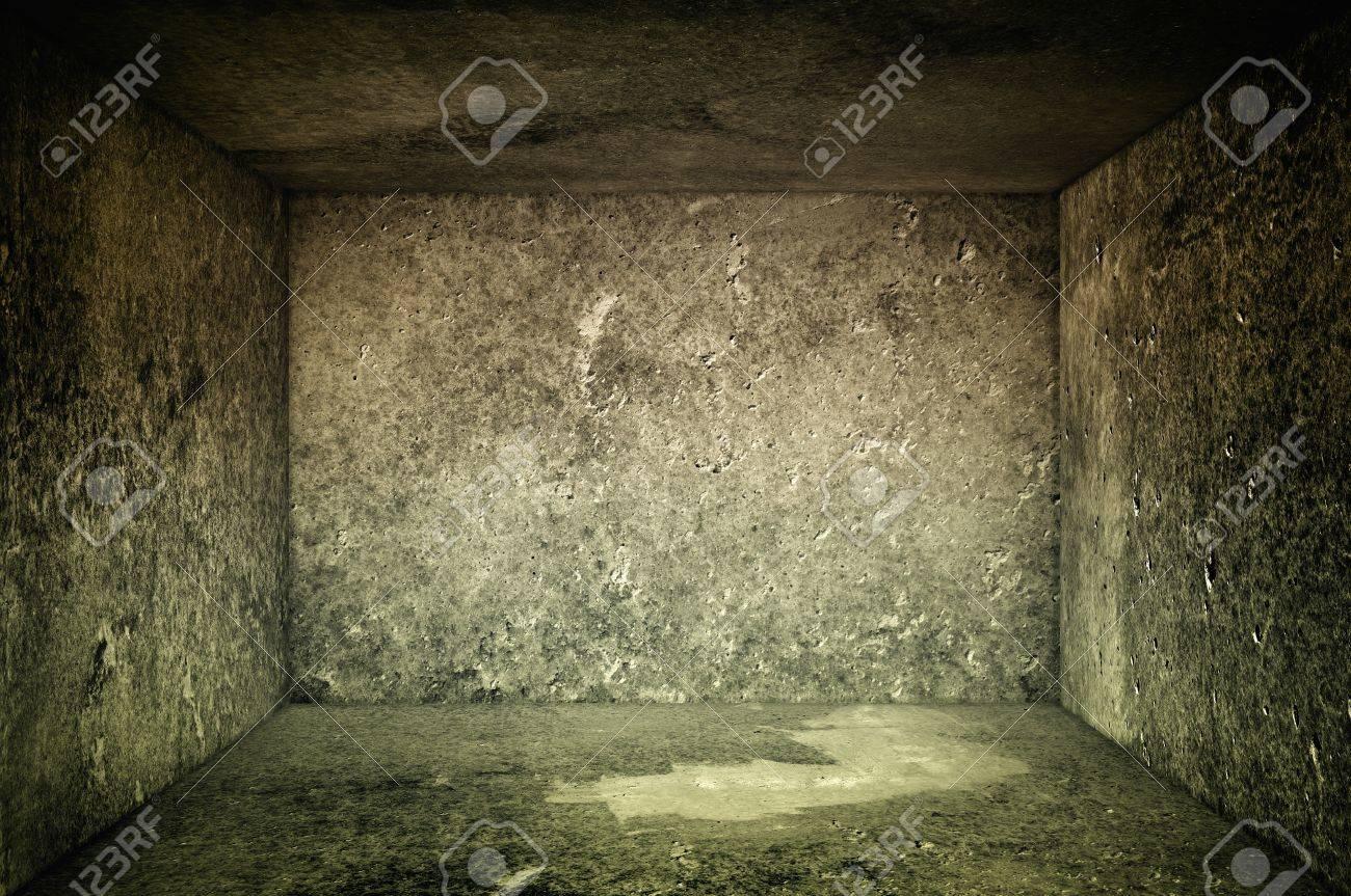 Obsolete gray grunge concrete room, urban texture background Stock Photo - 15220636