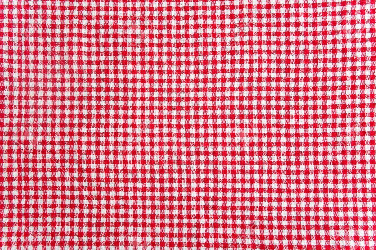 Merveilleux Red And White Table Cloth Texture. Abstract Background Stock Photo    16691047