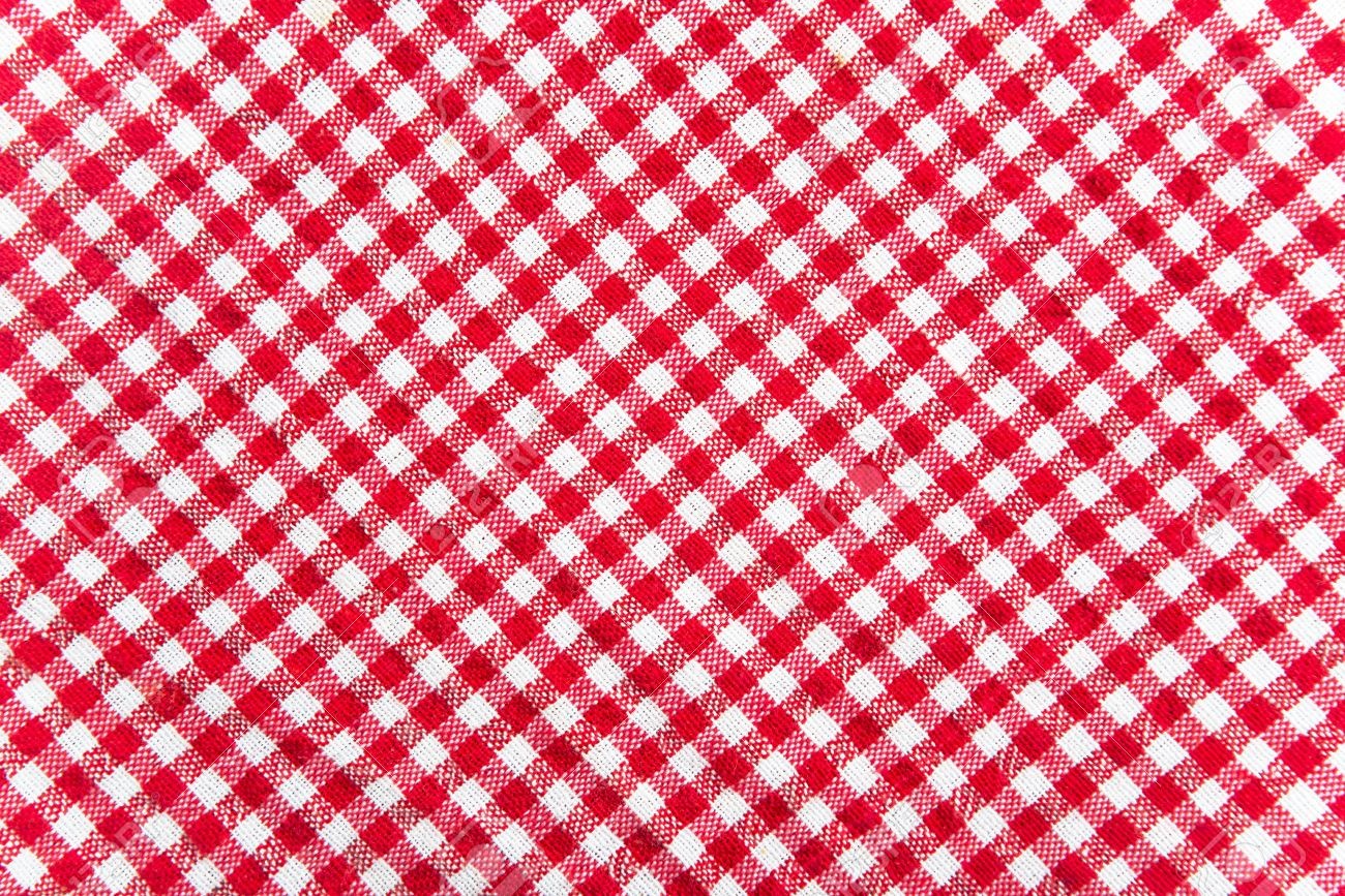 Red And White Table Cloth Texture. Abstract Background Stock Photo    16772067