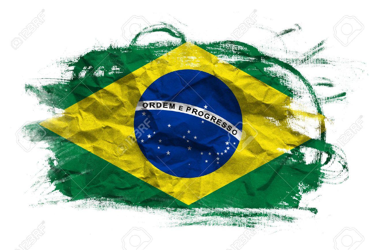 brazil flag brasil flag over grunge texture stock photo, picture