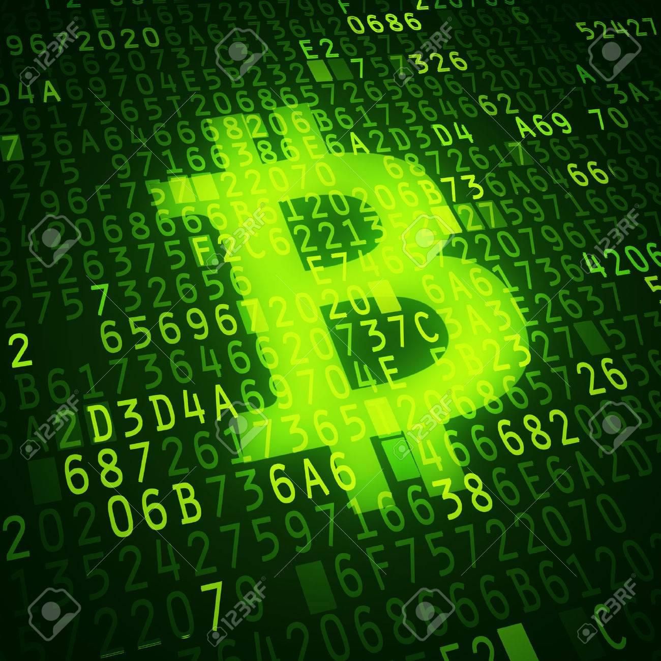 Bit coin symbol as virtual currency symbol Conceptual image - 25824522