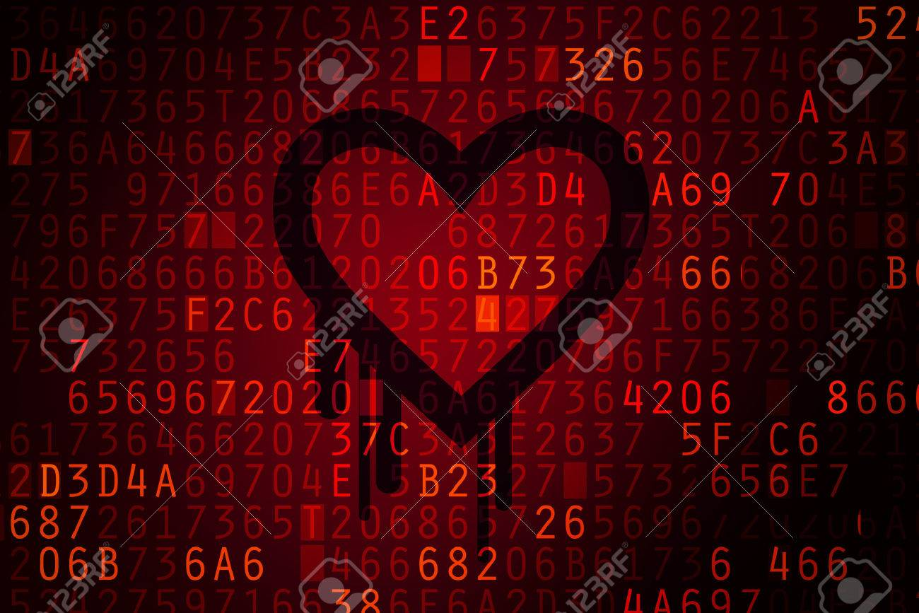 Heartbleed bug. Cracked Password and internet security issue concept. - 27827354