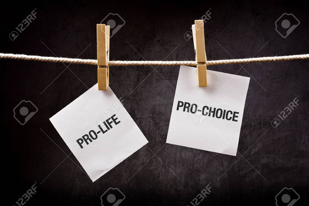 Pro-life vs pro-choice, female right on abortion concept - 30173751