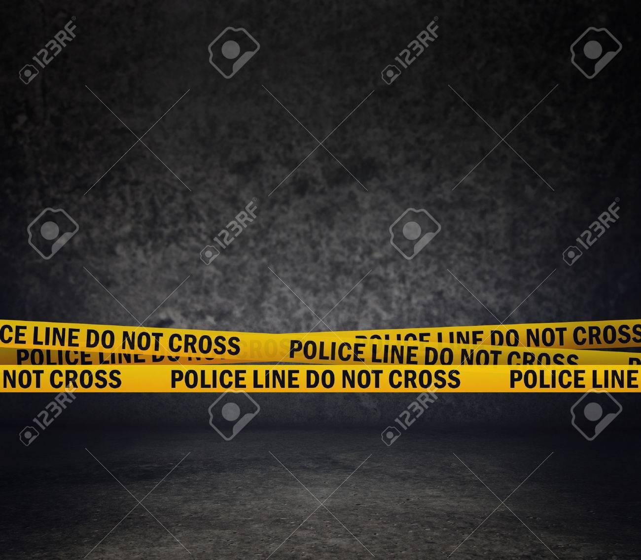 Police Line Do Not Cross Yellow Headband Tape Murder Scene Police Ribbon - 30840635