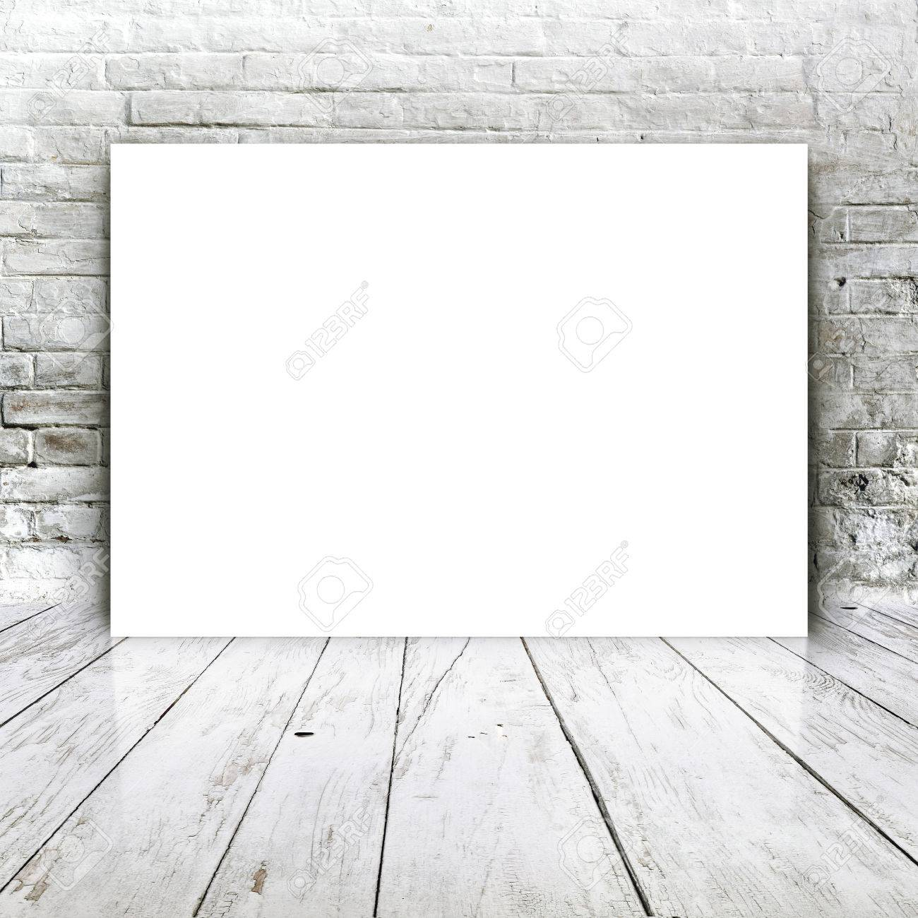 Blank poster as copy space template for your artwork or design