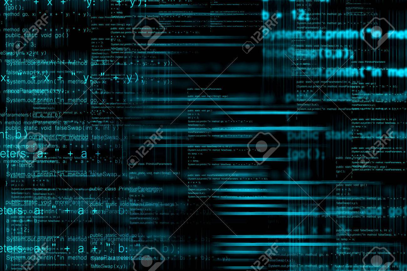 Abstract computer programming code as technology background - 33042323