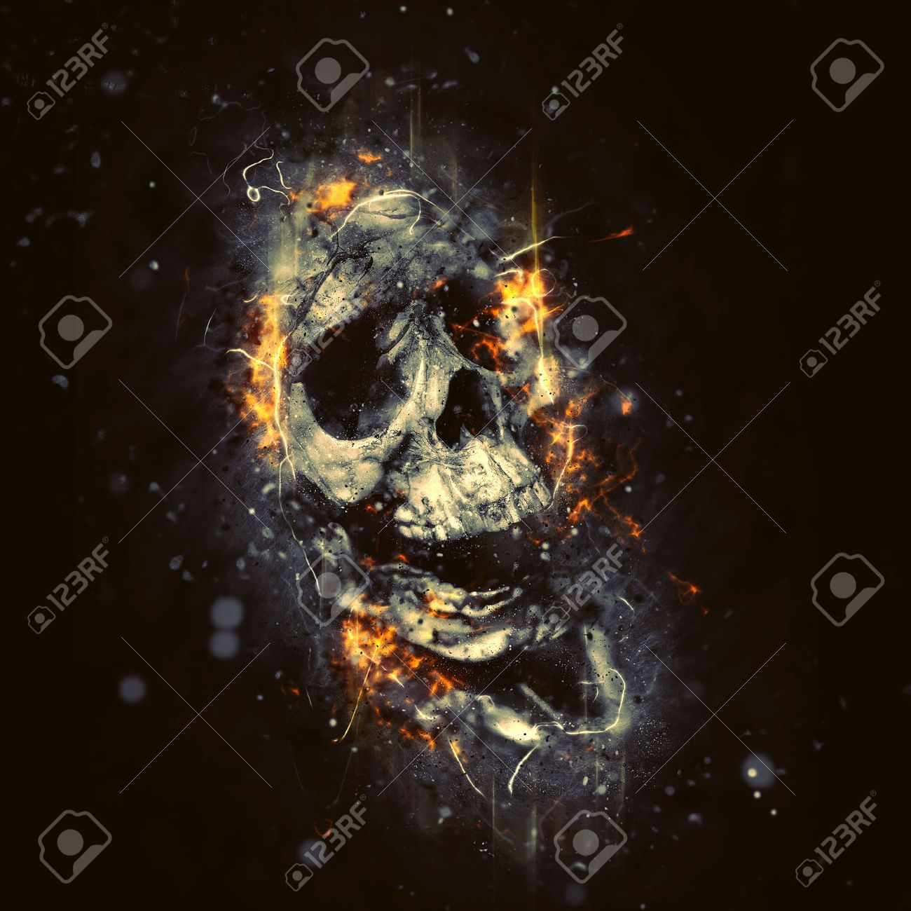 Scary Face Stock Photos. Royalty Free Business Images