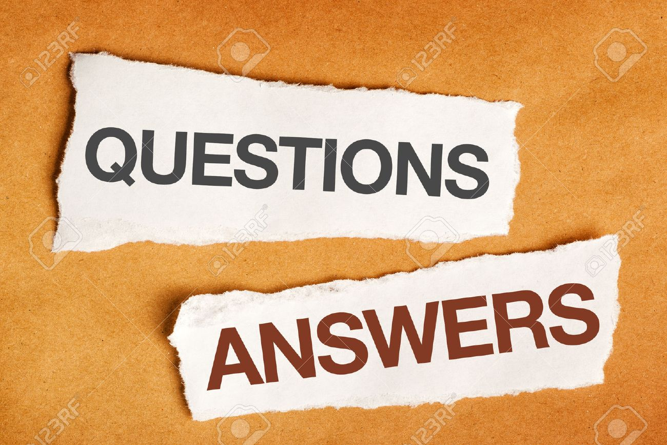 questions and answers on scrap paper presentation slide background