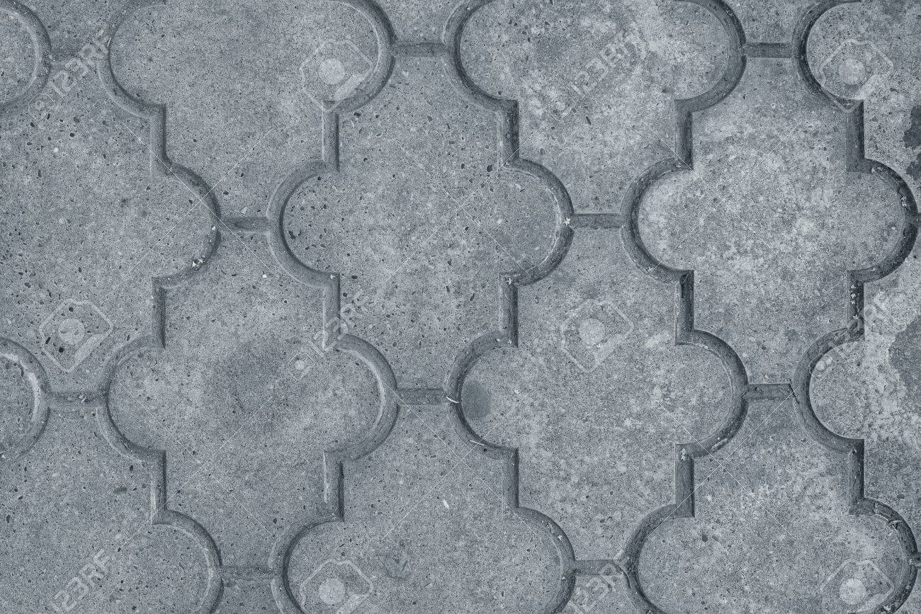 decorative concrete slabs pavers texture top view stock photo