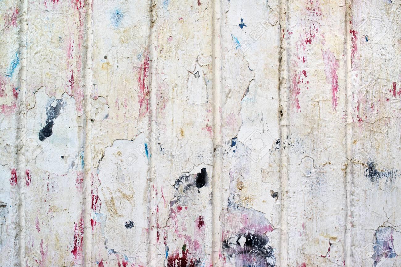Texture De Mur Grunge Avec Motif De Peinture épluchée Fond Extérieur Urbain
