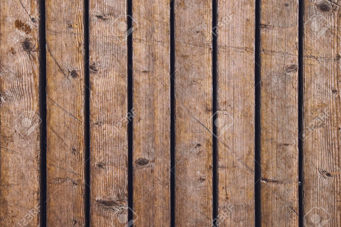 Top View Of Outdoor Patio Hardwood Flooring Texture Weathered