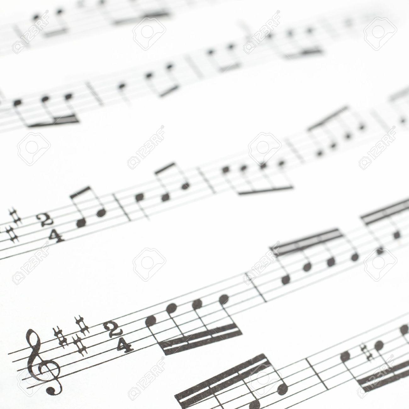 Antiguo Hoja Impresa Música O La Fotografía Puntuación De Cerca Las ...