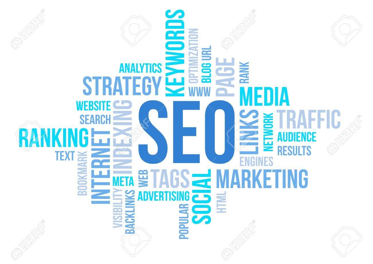 Seo business, search engine optimazion, concept cloud chart illustration Stock Photo - 19452876