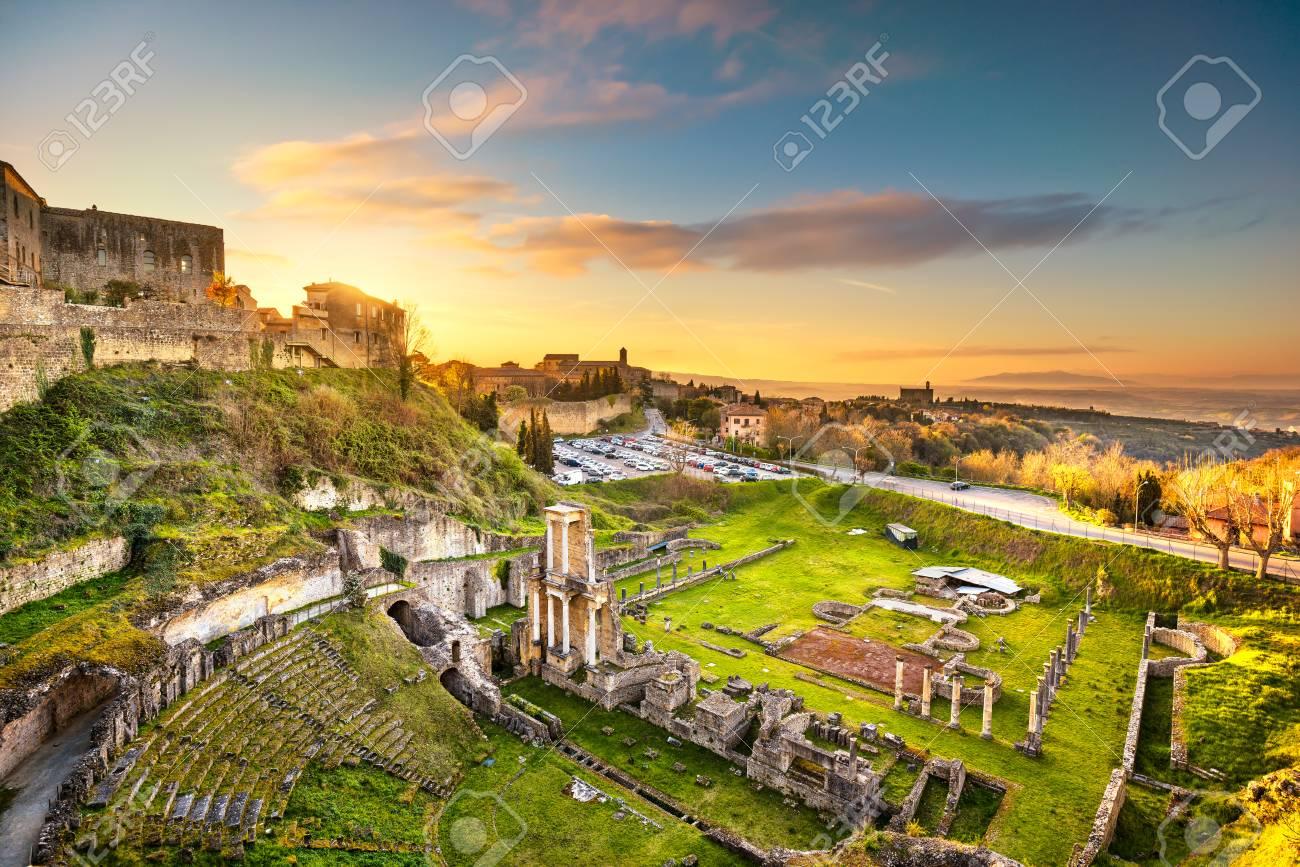 Volterra roman theatre ruins at sunset 1st century bce tuscany stock photo volterra roman theatre ruins at sunset 1st century bce tuscany italy europe publicscrutiny Images