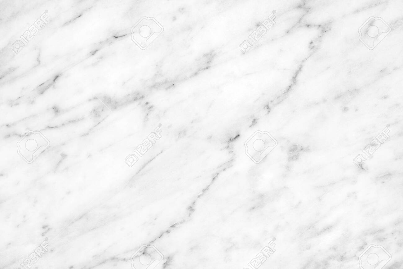 White Carrara Marble natural light for bathroom or kitchen white countertop. High resolution texture and pattern. - 135221027