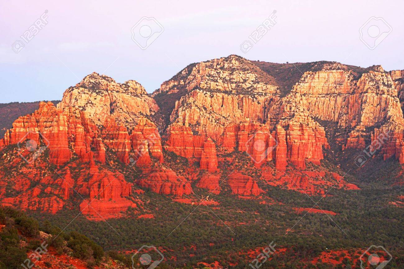 Sunset in Oak Creek Canyon in Sedona Arizona Stock Photo - 10894199