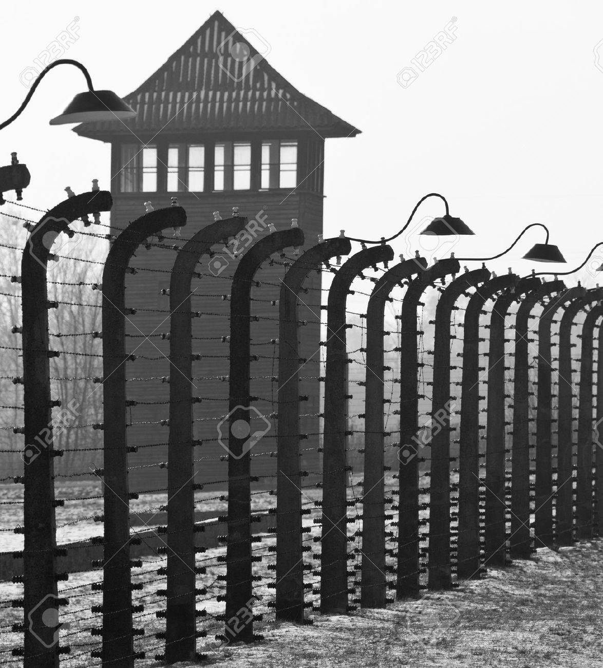 Auschwitz II-Birkenau, the extermination camp, where up to three million people were murdered by the Nazis - 2 5 million gassed, and 500,000 from disease and starvation - 20578227